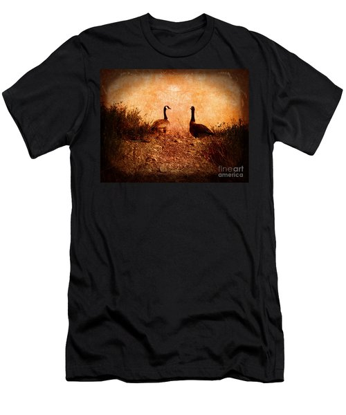 Geese On A Hill Men's T-Shirt (Athletic Fit)