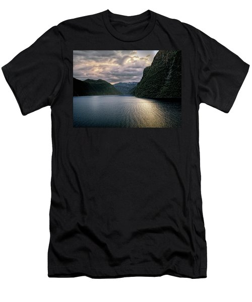 Men's T-Shirt (Slim Fit) featuring the photograph Geiranger Fjord by Jim Hill