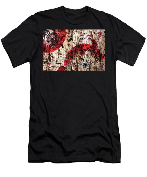 Geisha Grunge Men's T-Shirt (Athletic Fit)