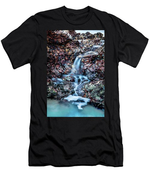 Men's T-Shirt (Slim Fit) featuring the photograph Gemstone Falls by Az Jackson