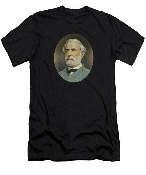 General Robert E. Lee Color Portrait  Men's T-Shirt (Athletic Fit)