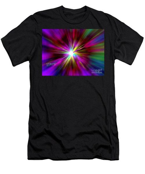 Genesis 1 Verse 3 Men's T-Shirt (Athletic Fit)