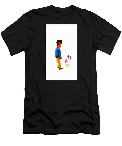 Gentleman Stops To Smell The Flowers Men's T-Shirt (Athletic Fit)