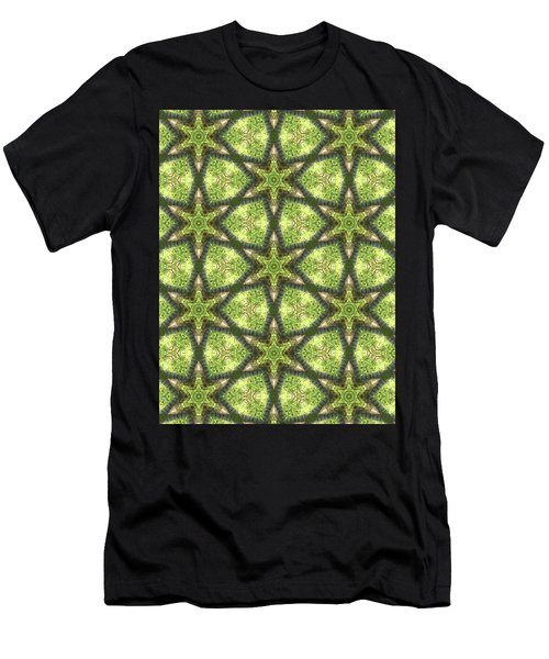 Geo Stars In Greens Men's T-Shirt (Athletic Fit)