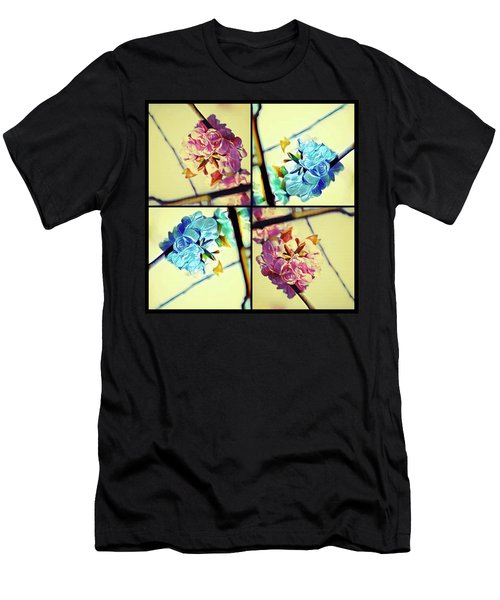 Geometric Blossoms Men's T-Shirt (Athletic Fit)