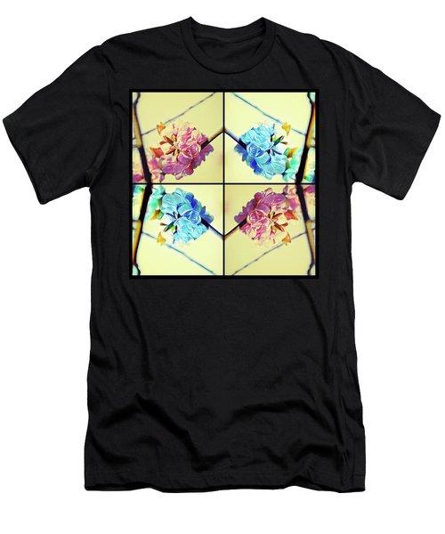 Geometric Cherry Blossoms Men's T-Shirt (Athletic Fit)