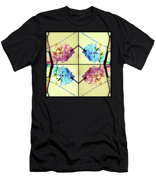 Geometric Cherry Blossoms Men's T-Shirt (Athletic Fit)
