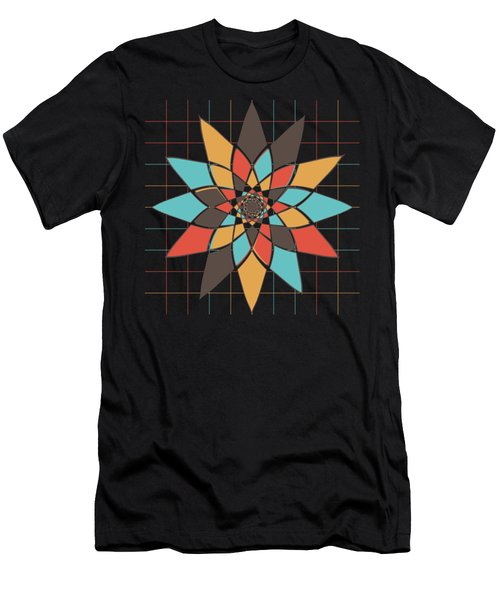 Geometric Flower Men's T-Shirt (Athletic Fit)