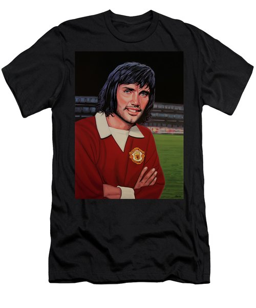 George Best Painting Men's T-Shirt (Athletic Fit)