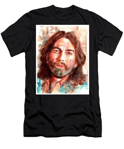 George Harrison Portrait Men's T-Shirt (Athletic Fit)