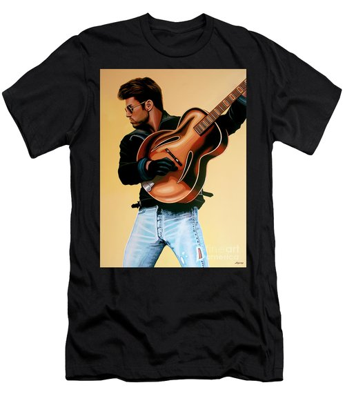 George Michael Painting Men's T-Shirt (Athletic Fit)
