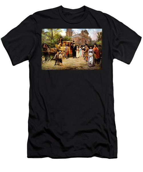 George Washington Arriving At Christ Church Men's T-Shirt (Athletic Fit)