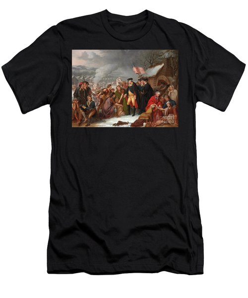 George Washington At Valley Forge Men's T-Shirt (Athletic Fit)