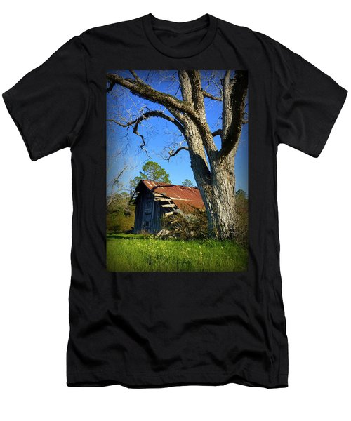Georgia Barn Men's T-Shirt (Slim Fit) by Carla Parris