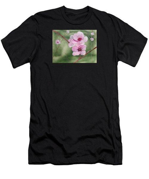 Georgia Peach Blossoms Men's T-Shirt (Athletic Fit)