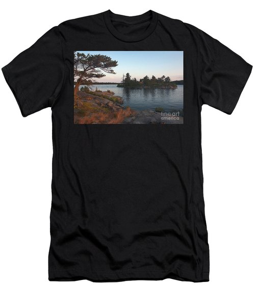 Georgian Bay Sunrise-4299 Men's T-Shirt (Athletic Fit)