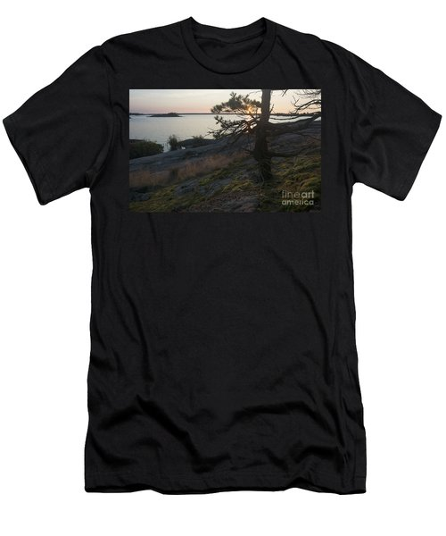 Georgian Bay Sunrise-moss 4253 Men's T-Shirt (Athletic Fit)