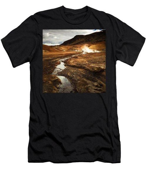 Geothermal Area Krysuvik In Iceland Men's T-Shirt (Athletic Fit)