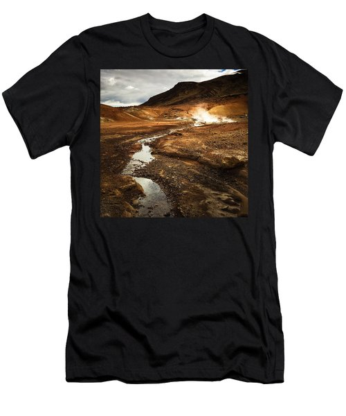 Geothermal Area Krysuvik In Iceland Men's T-Shirt (Athletic Fit)