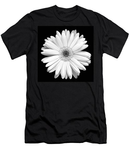 Single Gerbera Daisy Men's T-Shirt (Slim Fit) by Marilyn Hunt