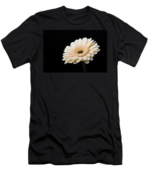Men's T-Shirt (Athletic Fit) featuring the photograph Gerbera Daisy On Black II by Clare Bambers