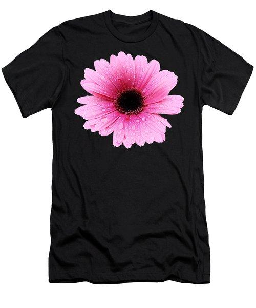 Gerbera Pink - Daisy - Up Close Men's T-Shirt (Athletic Fit)