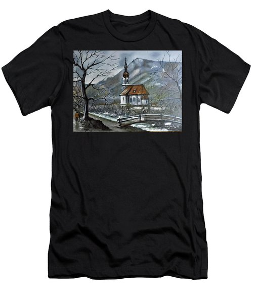 German Church At Ramsau  Men's T-Shirt (Athletic Fit)