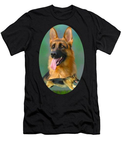German Shepherd Breed Art Men's T-Shirt (Athletic Fit)