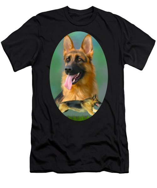 German Shepherd Breed Art Men's T-Shirt (Athletic Fit)