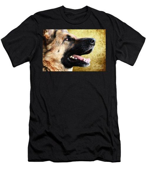 German Shepherd Portrait Men's T-Shirt (Athletic Fit)