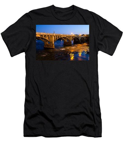 Gervais Street Bridge At Twilight Men's T-Shirt (Athletic Fit)