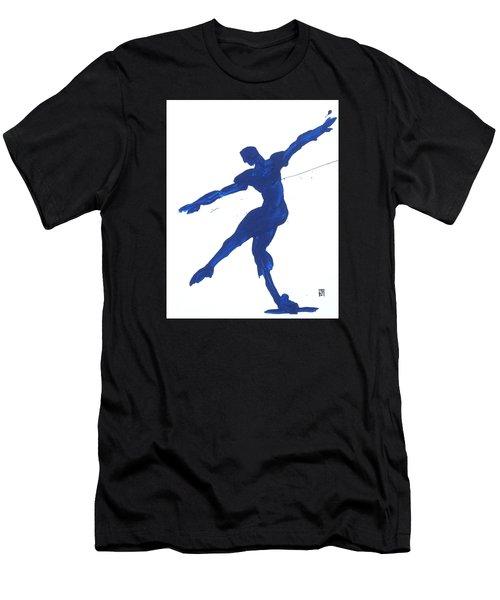 Gesture Brush Blue 2 Men's T-Shirt (Athletic Fit)
