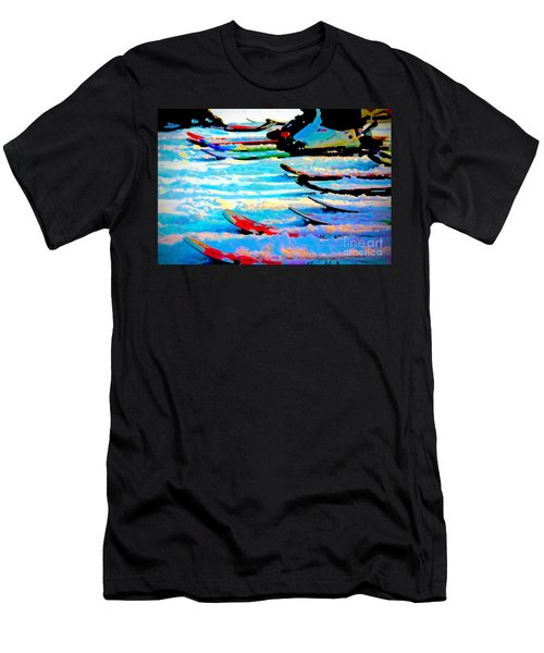 Men's T-Shirt (Athletic Fit) featuring the digital art Get In Line 2017 by Kathryn Strick
