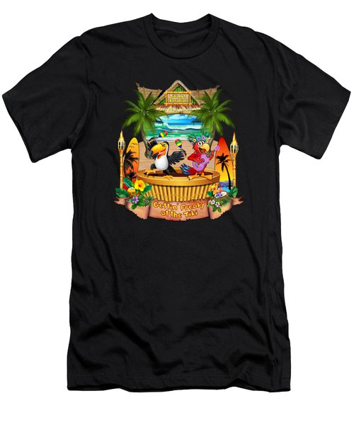 Gettin' Freaky At The Tiki Men's T-Shirt (Athletic Fit)