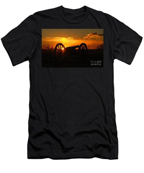 Gettysburg Cannon Sunset Men's T-Shirt (Slim Fit) by Randy Steele
