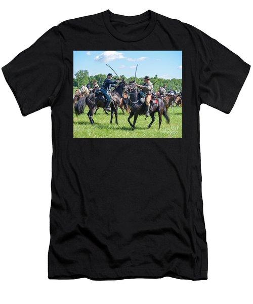 Gettysburg Cavalry Battle 7978c  Men's T-Shirt (Athletic Fit)