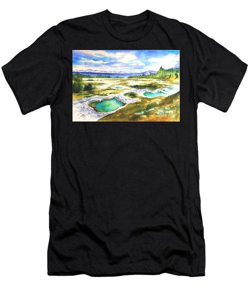 Geyser Basin, Yellowstone Men's T-Shirt (Athletic Fit)