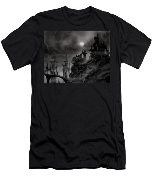 Ghost Castle Men's T-Shirt (Athletic Fit)