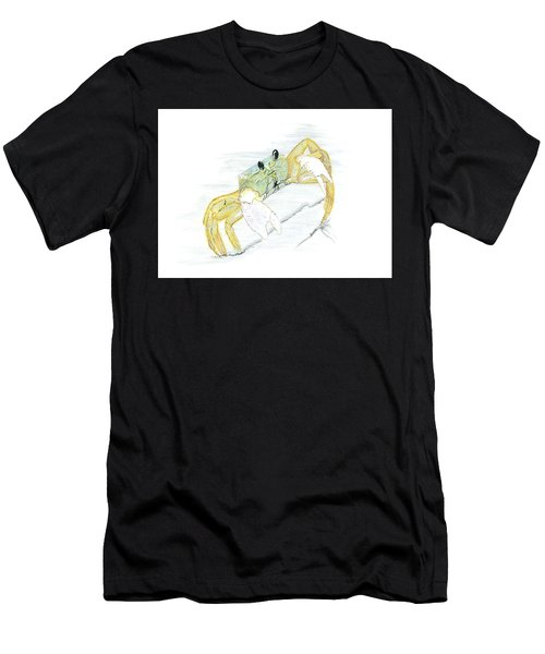 Ghost Crab Drawing The Line Men's T-Shirt (Athletic Fit)