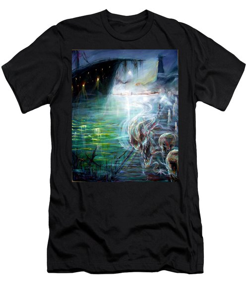 Men's T-Shirt (Slim Fit) featuring the painting Ghost Ship 2 by Heather Calderon