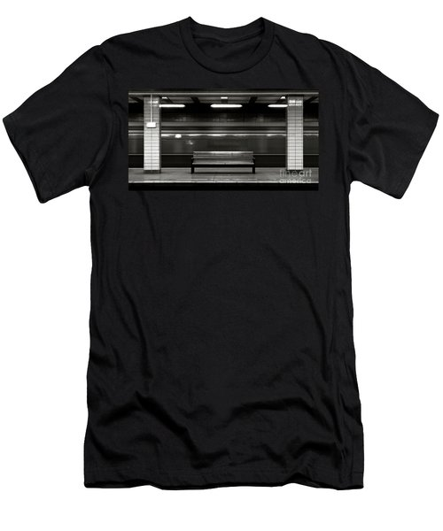 Men's T-Shirt (Athletic Fit) featuring the photograph East Berlin Ghost Train by Silva Wischeropp