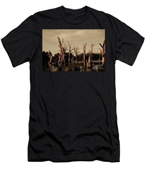 Ghostly Trees V2 Men's T-Shirt (Slim Fit) by Douglas Barnard
