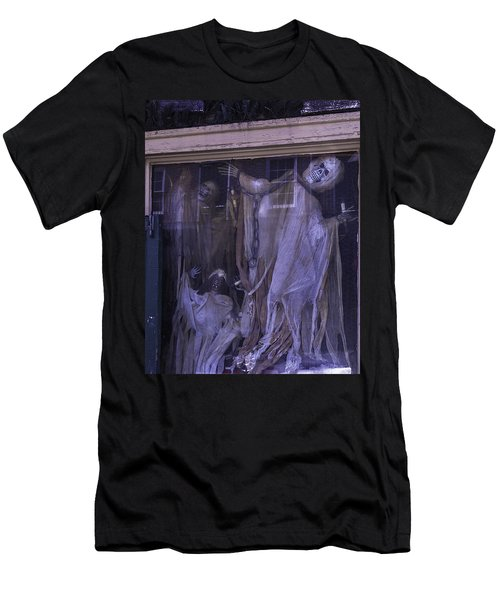 Ghosts In Window Men's T-Shirt (Athletic Fit)