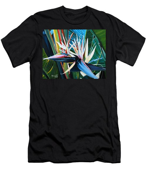 Giant Bird Of Paradise Men's T-Shirt (Athletic Fit)