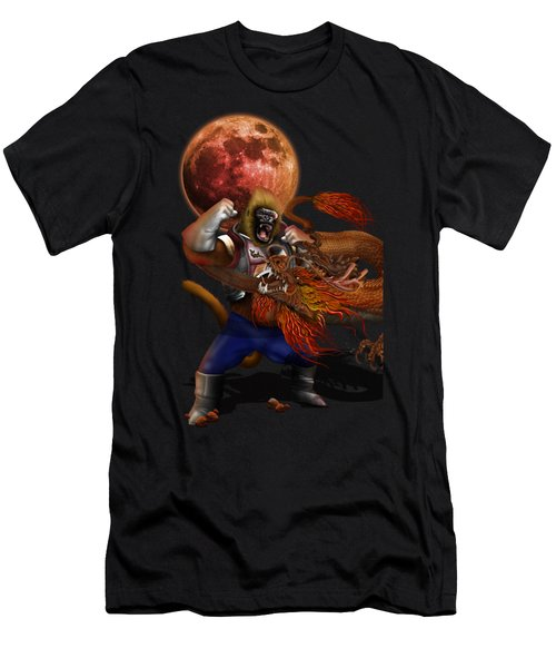Giant Monkey Vs Shen Long Men's T-Shirt (Athletic Fit)