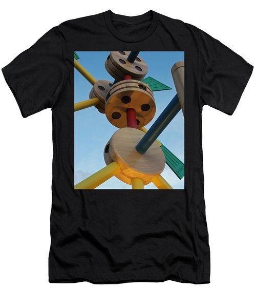 Giant Tinker Toys Men's T-Shirt (Athletic Fit)