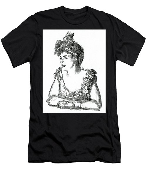 Gibson Girl, 1902 By Charles Dana Gibson Men's T-Shirt (Athletic Fit)