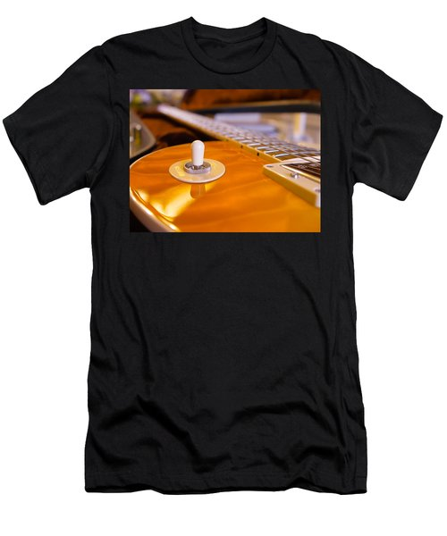 Yellow Quilt Guitar Top Men's T-Shirt (Athletic Fit)