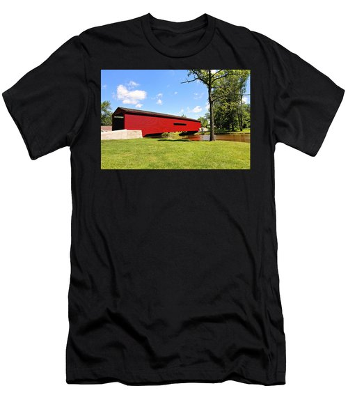 Gilpin's Falls Covered Bridge Men's T-Shirt (Athletic Fit)