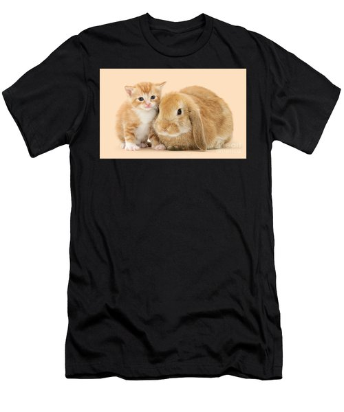 Ginger Kitten And Sandy Bunny Men's T-Shirt (Athletic Fit)